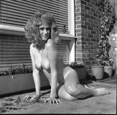 Vintage Nude negative  BUSTY BRITISH * SUSAN SHAW * OUTDOORS