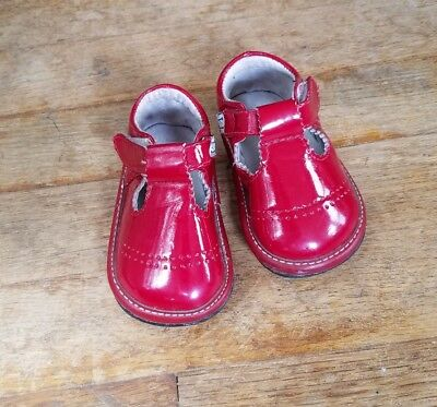 Jack and Lily Red Patent Mary Jane Holiday Christmas Shoes Baby Girl Size 3 GUC
