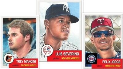2018 Topps Living Set Ssp #115 Severino #116 Jorge Rc #117 Mancini Presale Hot!