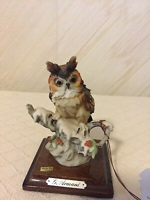 G Armani Owl Sculpture With Tag