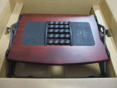 Humanscale Foot Machine 300B Foot Rest with Massage Balls - Dark Cherry