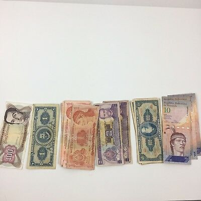Set Of 4 Different South American Countries Uncirculated Paper Currency Foreign