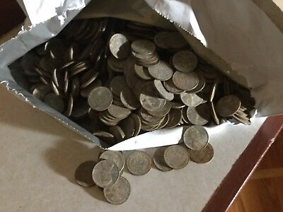 1 roll(50)1943 Lincoln Wheat Penny Cent Coins Steel War Cents  unsearched rusty