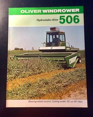 1969 Oliver Tractor Windrower 506 Sales Literature Catalog Brochure NOS