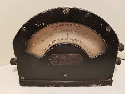 Vtg Postal Telegraph Cable Co Meter - Jewell Electrical Instruments Co Chicago