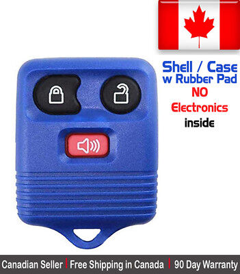 1x New Replacement Keyless Entry Blue Remote Control Key Fob Ford Shell / Case