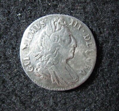 1697 Great Britain 6 Pence Good Details