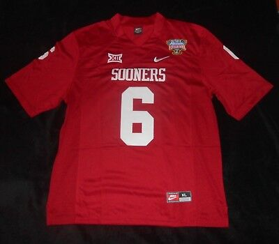 NFL NCAA Oklahoma Sooners Baker Mayfield Red Nike Stitched Sewn Football Jersey