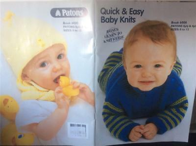 Patons Baby Babies Knitting Pattern Designs Books  6000 in 8 & 4 ply  knit.