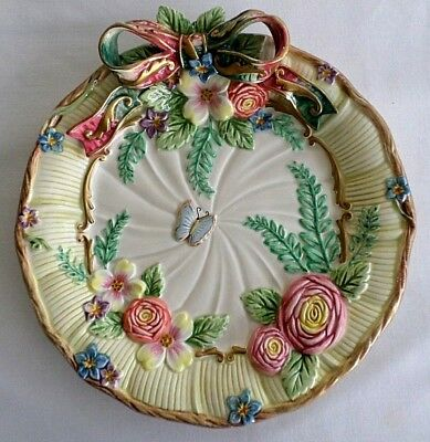 Fitz and Floyd, Classic Butterfly, Flowers & Ribbons, Decorative Plate