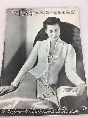 Vintage Knitting Pattern Book - Patons Speciality Book No. 150