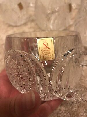 Nachtmann Bleikristall 24% Lead Crystal Cut Punch Cups, Set Of 5, Germany