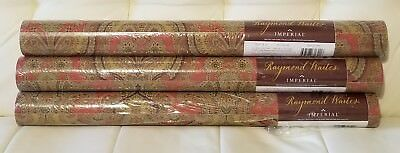 Lot of 3 Rolls Raymond Waites Imperial Wallpaper Paisley Print