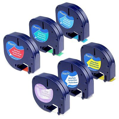 6PK Compatible for DYMO Letra Tag Label Tape LT91330 91331 91332 91334 91335