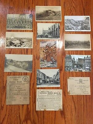 British Military Postcards and Ration Books WWI