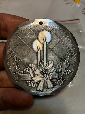 Wendell August Forge 1992 Christmas Ornament Candles Aluminum