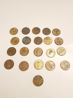 Vintage Lot of 21 Heads I Win - Tails You Lose Nude Woman Flipping Coins As-Is