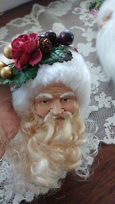 Victorian Santa Head Christmas Ornament #4