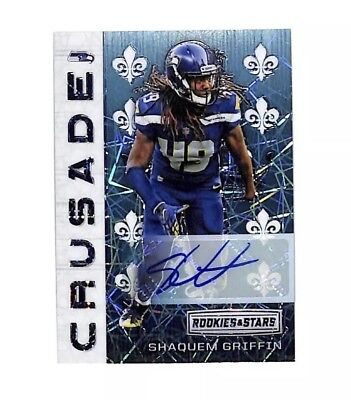 2018 Panini Rookies & Stars Shaquem Griffin Crusade auto card 3/25 Seahawks