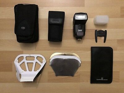 Canon 430EX II Speedlite + Multiple Diffusers & 2 Carrying Cases