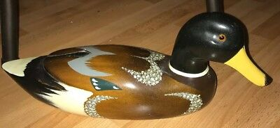 Vintage Mallard Wooden Wood Duck Hand Painted Decoy ? Duck Taiwan