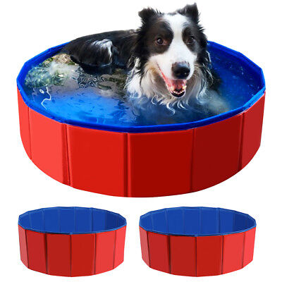 Dog Pool Pet Cat Puppy Swimming Portable Foldable Outdoor Indoor Durable Bathtub