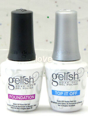 Harmony Gelish Soak-Off 0.5fl.oz Fondotinta Base Coat & Top It Off Strato