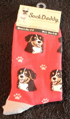 Bernese Mountain Dog Breed Lightweight Stretch Cotton Adult Socks