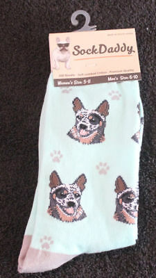 Australian Cattle Dog Breed Lightweight Stretch Cotton Adult Socks