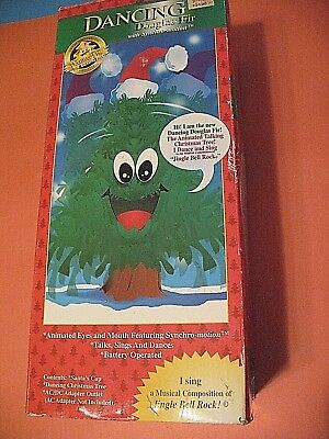 Dancing Douglas Fir Talking Singing Christmas Tree Used With Box