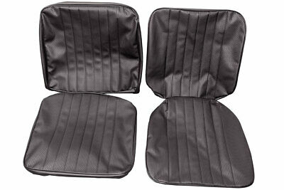 TMI Interiors Single Front Seat Covers VW T2 Bay 1967-1973 Black/Basket Weave (D