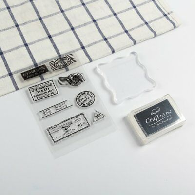 Stamp Postmark Travel Series Transparent Seal Sticky Labels Circles Rectangle N7