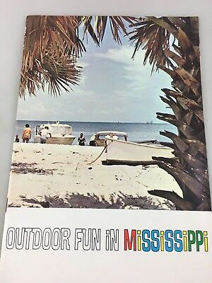 Tourist Brochure - Colour Brochure Outdoor Fun In Mississippi. - Possibly 1960's