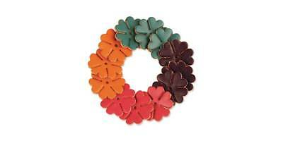 FLOWER SHAPES 1in 12PK ASSORTED (4167-02) [WBL]