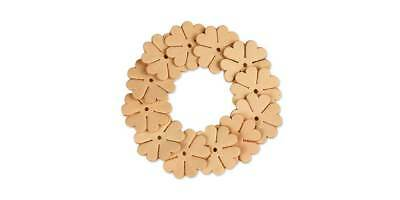 FLOWER SHAPES 1in 12PK Natural/Vegetable Tan (4167-12) [WBL]