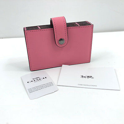 a50ff6378cb9 NWT Coach Wallet Colorblock Leather Accordion Card Case Bright Pink Free  Ship