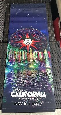 Disney California Adventure Screamin Christmas Banner Sign Prop Disneyland