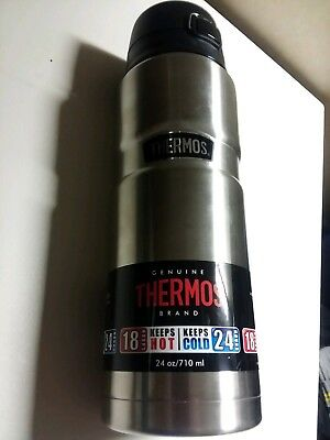 Thermos Stainless Steel King : 24 Ounce Hot or Cold Bottle/food storage / liquid