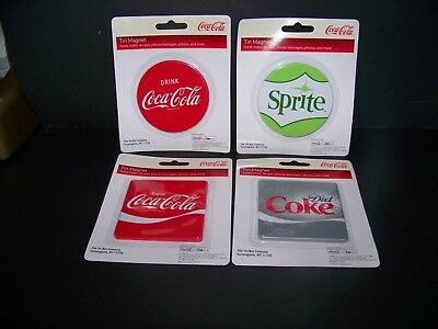 4 CT. COCA COLA, Diet Coke & Sprite Magnet Assortment  ALL BRAND NEW  Lot #2