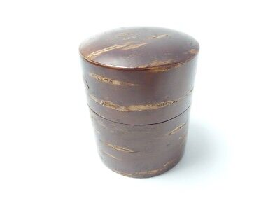 Japanese antique vintage lacquer cherry wood Natsume tea caddy chacha