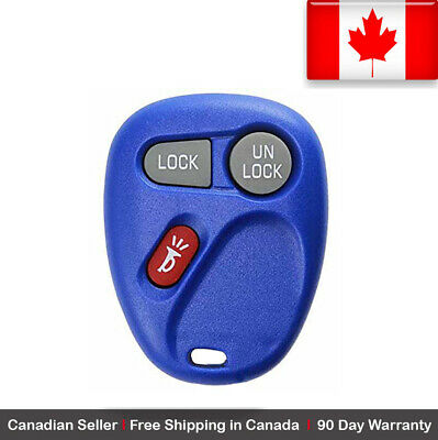 1x New Replacement Keyless Entry Blue Remote Control Key Fob Chevy Cadillac GMC