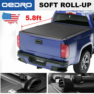Soft Roll-Up Truck Bed Cover 5.8' Bed for 2014-2019 Chevy Silverado/GMC Sierra