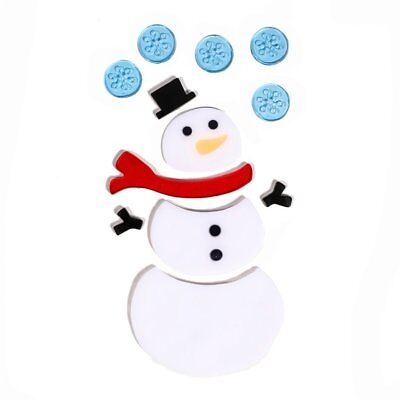 Christmas Series Window Glass Decorative Wall Stickers Snowman Window StickersN7