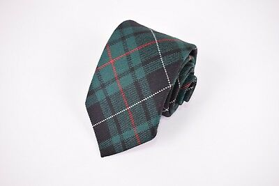 Brooks Brothers NWT Wool Neck Tie In Green Black Red & White Plaid