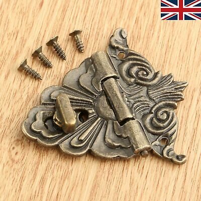 Decorative Jewelry Gift Box Wooden Case Latch Clasp Vintage Lock Buckle UK STOCK