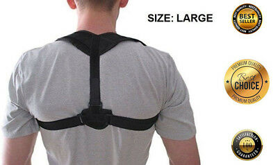 Posture Corrector Back Shoulder Support Brace Adjustable Men Women Breathable