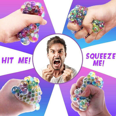 Squishy Mesh Sensory Stress Reliever Ball Play Toy Autism Relief Squeeze Anxiety