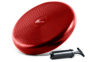 """ProsourceFit Core Balance Disc Trainer, 14"""" w/Pump Improve Posture Stability Red"""