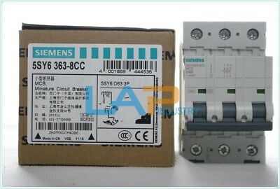 1PC NEW FOR SIEMENS 5SY6363-8CC 3P 63A Plastic Shell Circuit Breaker