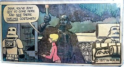 Star Wars Framed National Newspaper Clipping 10/30/77 - Star Wars 1st Halloween